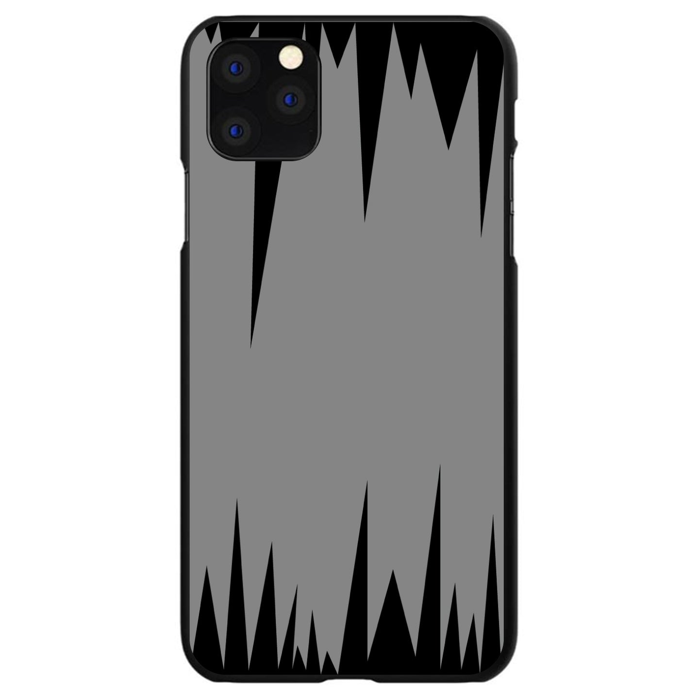 DistinctInk® Hard Plastic Snap-On Case for Apple iPhone - Grey Black Spikes