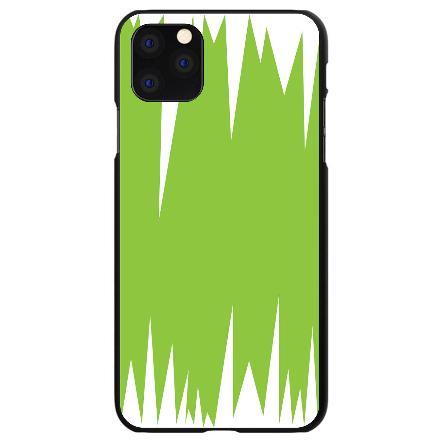 DistinctInk® Hard Plastic Snap-On Case for Apple iPhone - Lime Green White Spikes