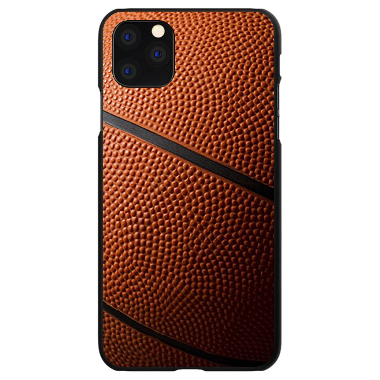 DistinctInk® Hard Plastic Snap-On Case for Apple iPhone - Basketball Photo