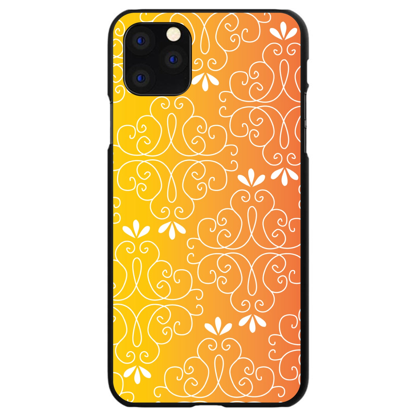 DistinctInk® Hard Plastic Snap-On Case for Apple iPhone - Yellow Orange Red Gradient