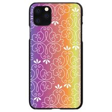 DistinctInk® Hard Plastic Snap-On Case for Apple iPhone - Blue Purple Orange Yellow Pink Gradient