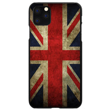 DistinctInk® Hard Plastic Snap-On Case for Apple iPhone - Red White Blue British Flag Old