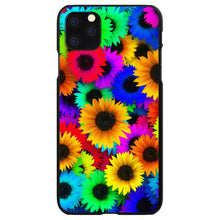DistinctInk® Hard Plastic Snap-On Case for Apple iPhone - Red Green Yellow Sunflowers