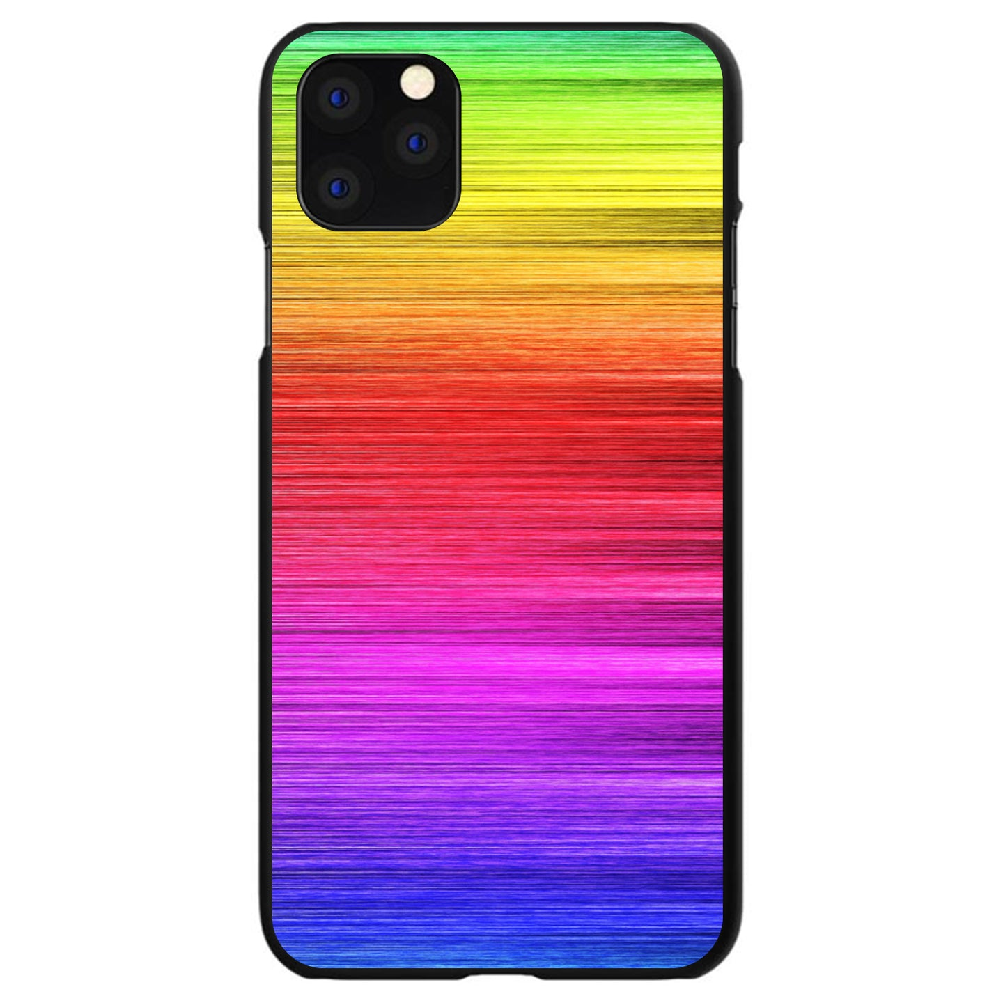 DistinctInk® Hard Plastic Snap-On Case for Apple iPhone - Rainbow Shimmering Lines