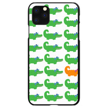 DistinctInk® Hard Plastic Snap-On Case for Apple iPhone - Green Orange Blue Alligator Gator