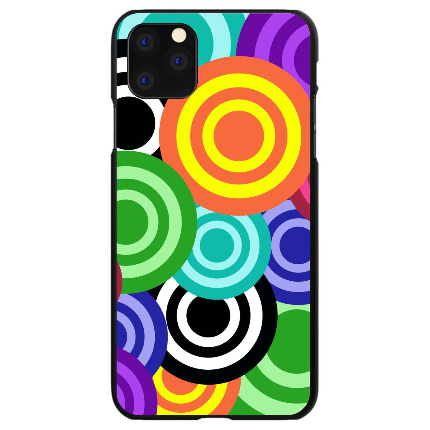 DistinctInk® Hard Plastic Snap-On Case for Apple iPhone - Multi Color Swirls
