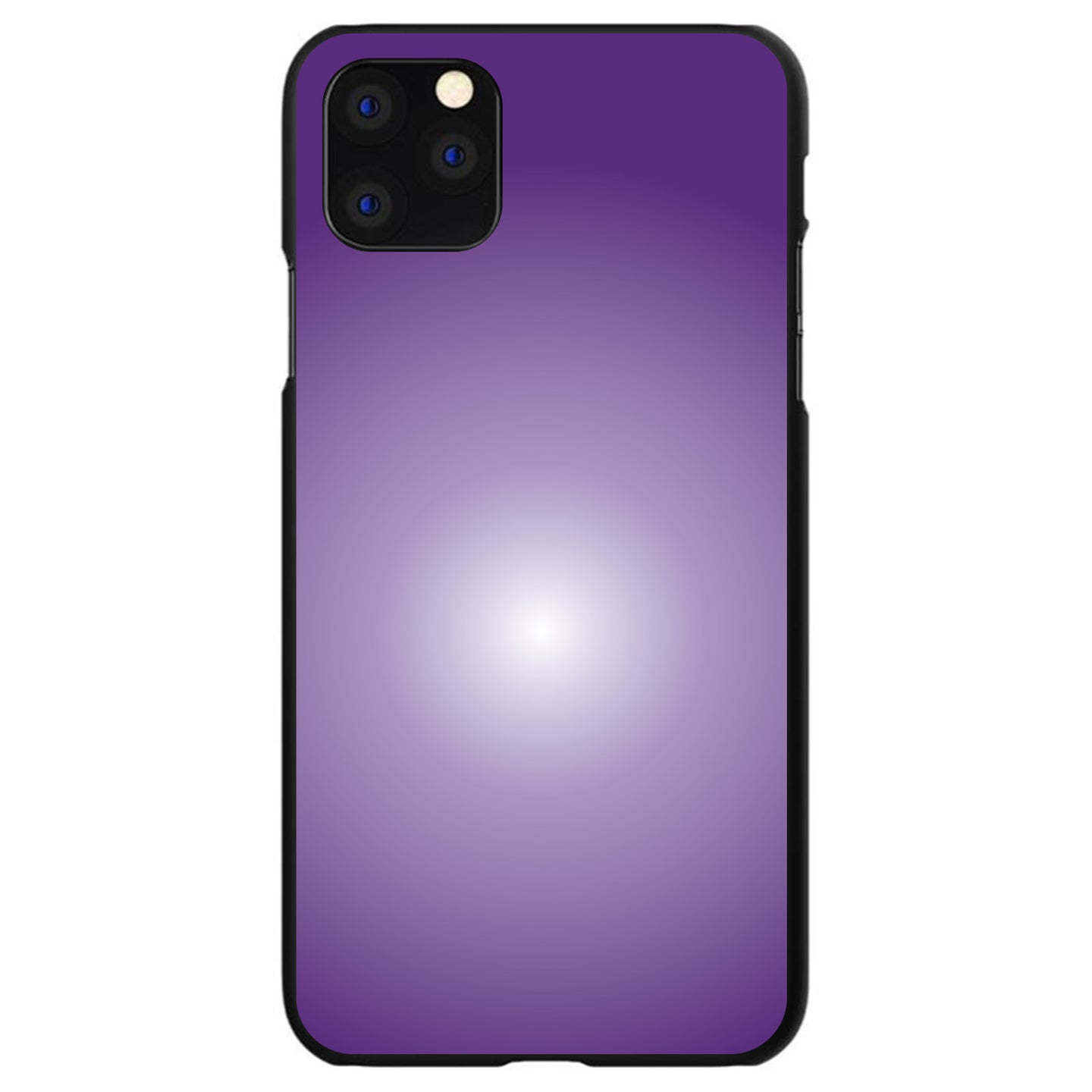 DistinctInk® Hard Plastic Snap-On Case for Apple iPhone - Purple White Gradient Burst