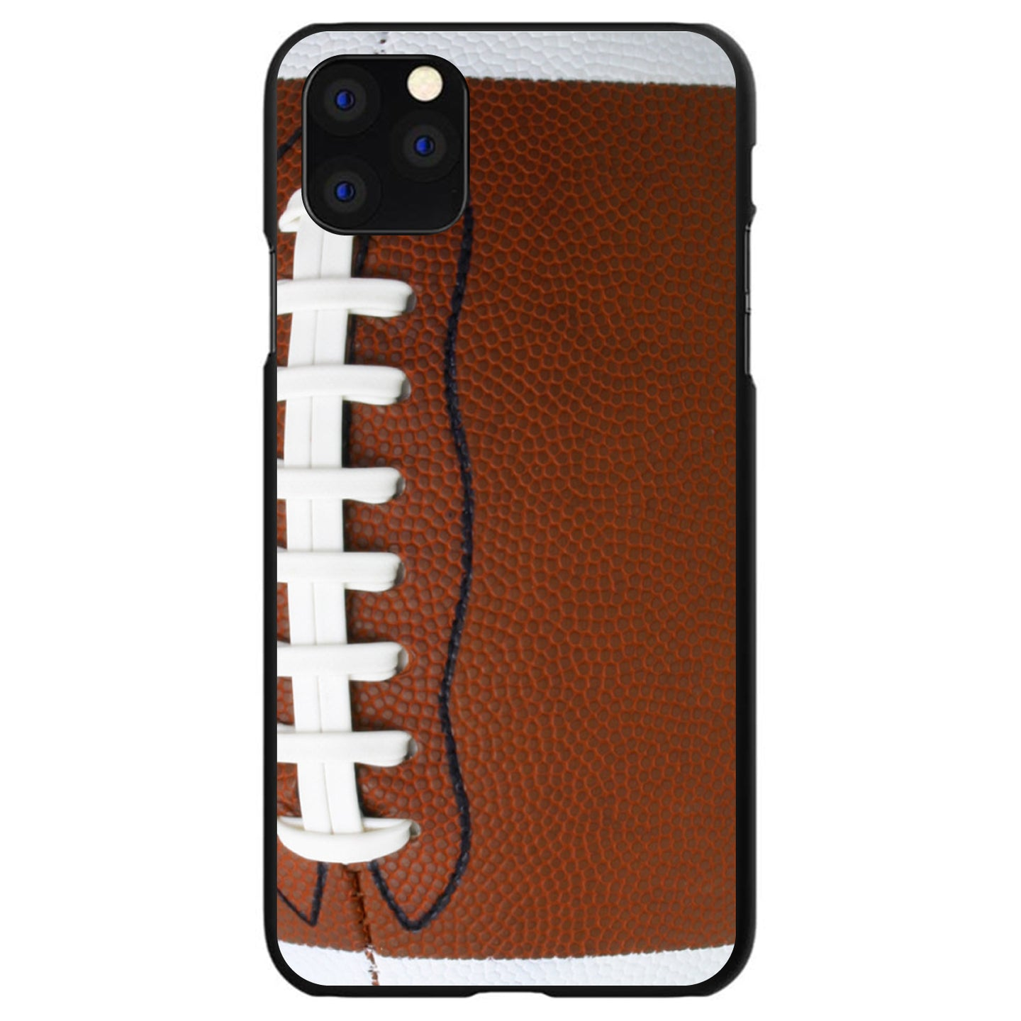 DistinctInk® Hard Plastic Snap-On Case for Apple iPhone - Football Texture Photo Laces