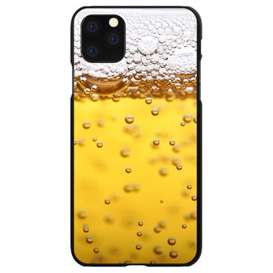 DistinctInk Black Hard Snap-On Case for Apple iPhone 5 / 5S / SE - Beer Glass Foam Bubbles