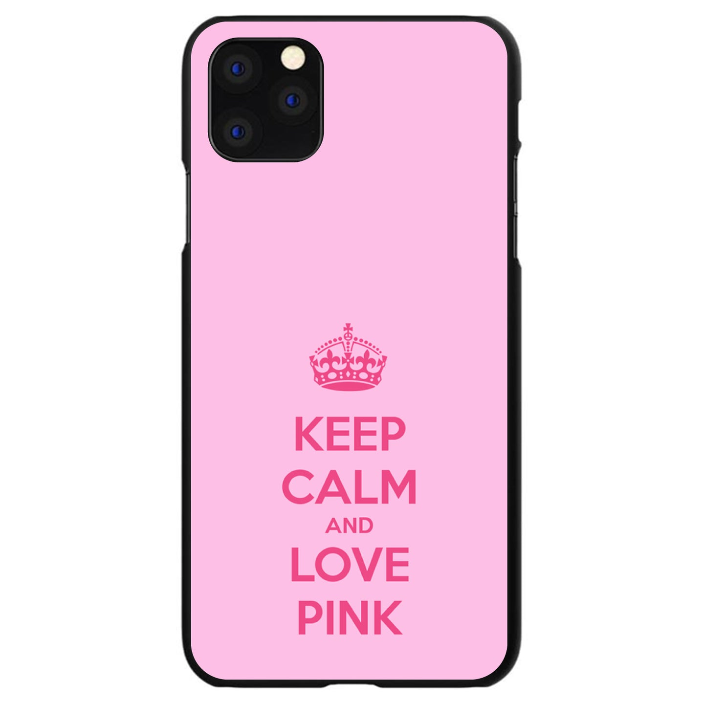DistinctInk® Hard Plastic Snap-On Case for Apple iPhone - Keep Calm and Love Pink