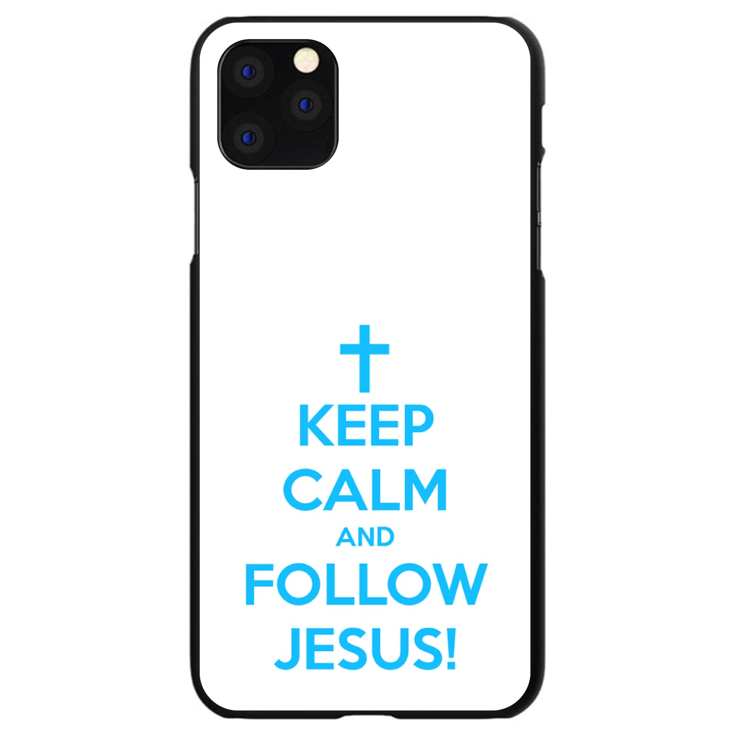 DistinctInk® Hard Plastic Snap-On Case for Apple iPhone - Keep Calm and Follow Jesus