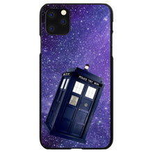 DistinctInk® Hard Plastic Snap-On Case for Apple iPhone - TARDIS Floating in Space