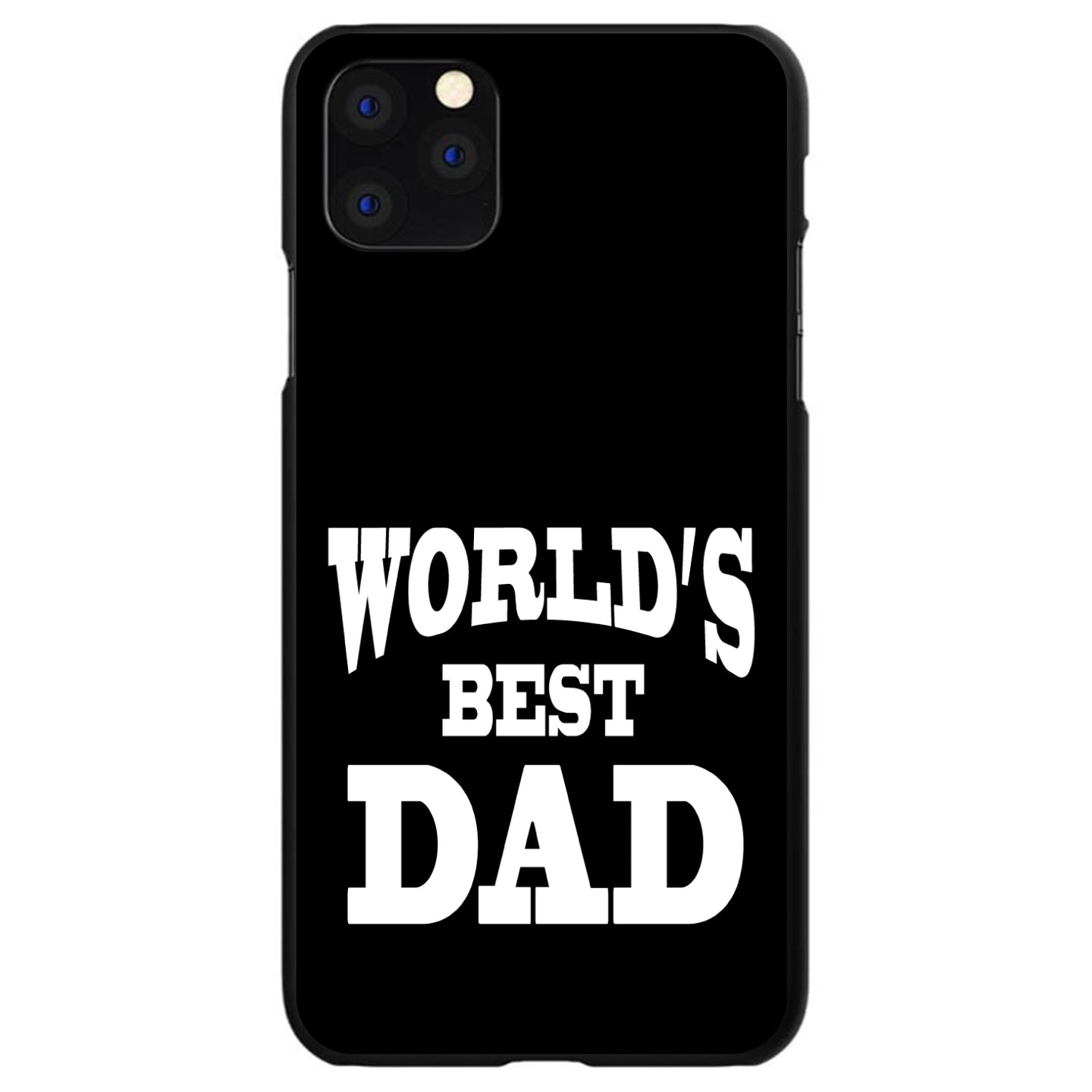 DistinctInk® Hard Plastic Snap-On Case for Apple iPhone - Black White Worlds Best Dad