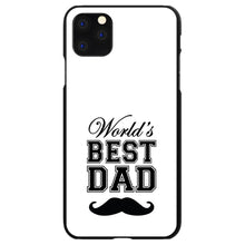 DistinctInk® Hard Plastic Snap-On Case for Apple iPhone - Black Worlds Best Dad Moustache