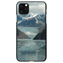 DistinctInk® Hard Plastic Snap-On Case for Apple iPhone - Tracy Arm Fjord Alaska