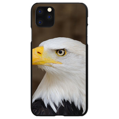 DistinctInk Black Hard Snap-On Case for Apple iPhone 5 / 5S / SE - American Bald Eagle