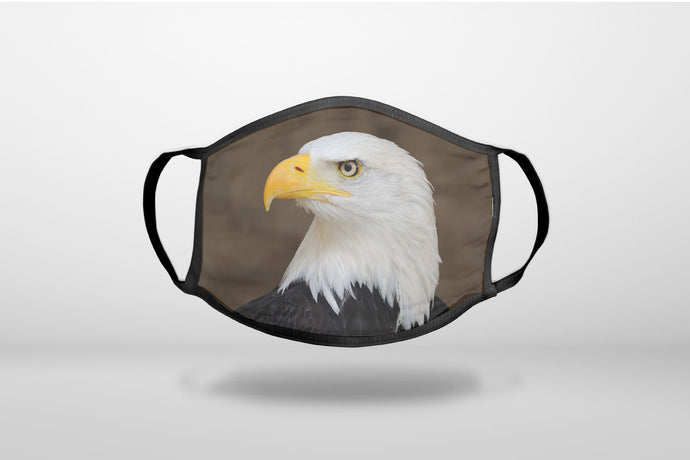 American Bald Eagle - 3-Ply Reusable Soft Face Mask Covering, Unisex, Cotton Inner Layer