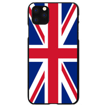 DistinctInk® Hard Plastic Snap-On Case for Apple iPhone - Red White Blue British Flag UK