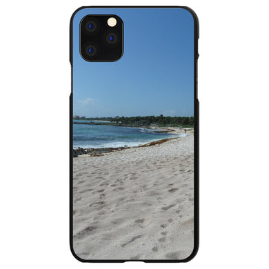 DistinctInk Black Hard Snap-On Case for Apple iPhone 5 / 5S / SE - Beach Scene Akumal Mexico
