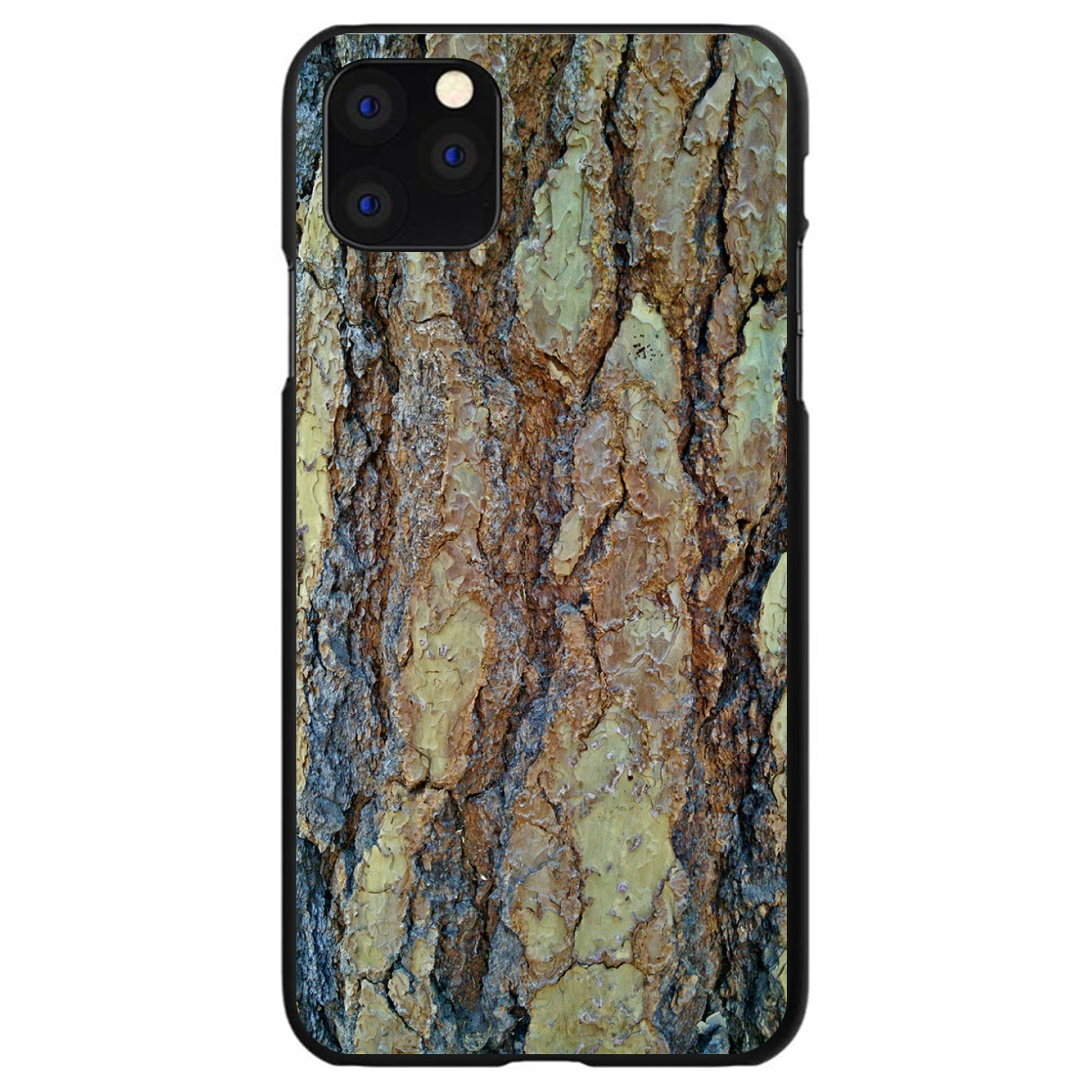 DistinctInk® Hard Plastic Snap-On Case for Apple iPhone - Yosemite Redwood Bark