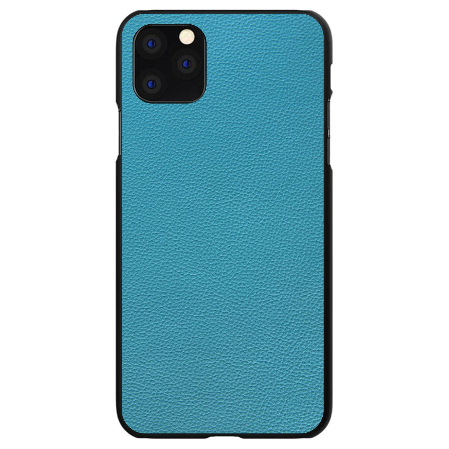 DistinctInk® Hard Plastic Snap-On Case for Apple iPhone - Teal Leather Print Design
