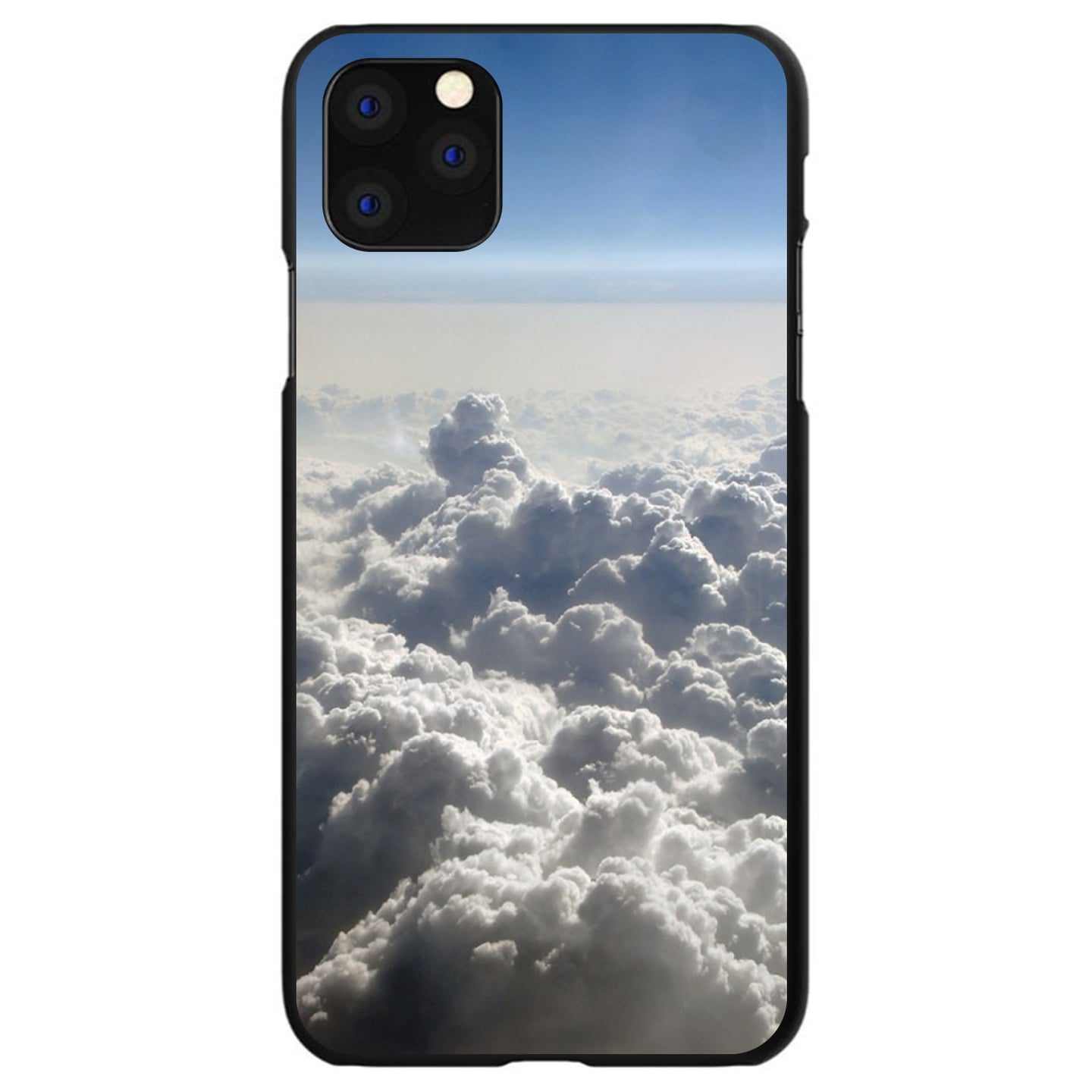 DistinctInk® Hard Plastic Snap-On Case for Apple iPhone - Blue Sky Above Clouds