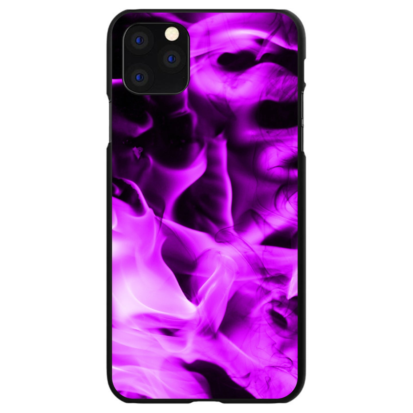 DistinctInk® Hard Plastic Snap-On Case for Apple iPhone - Violet Flame Fire
