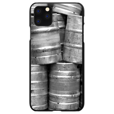 DistinctInk Black Hard Snap-On Case for Apple iPhone 5 / 5S / SE - Beer Kegs