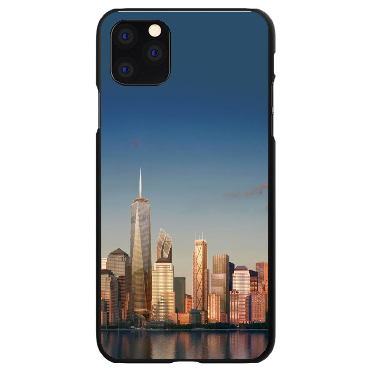 DistinctInk® Hard Plastic Snap-On Case for Apple iPhone - New York Skyline New