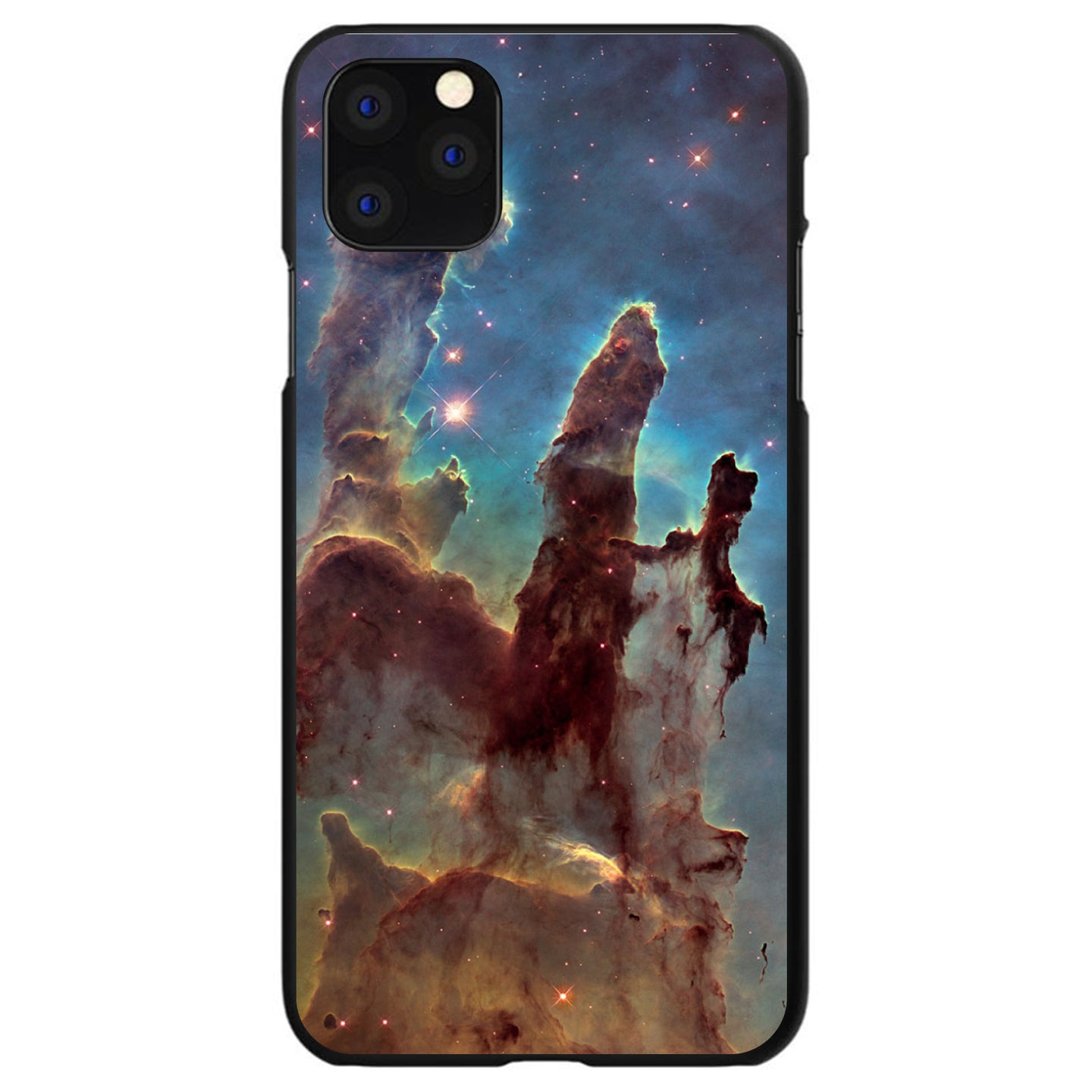 DistinctInk® Hard Plastic Snap-On Case for Apple iPhone - Pillars of Creation