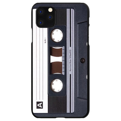 DistinctInk Black Hard Snap-On Case for Apple iPhone 5 / 5S / SE - Audio Cassette Tape