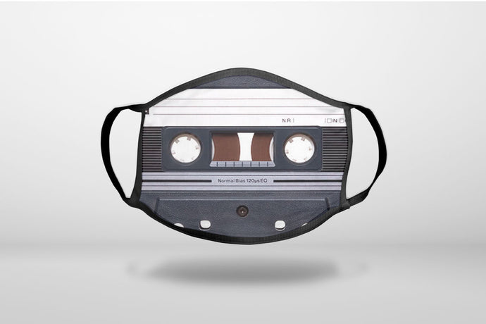 Audio Cassette Tape - 3-Ply Reusable Soft Face Mask Covering, Unisex, Cotton Inner Layer
