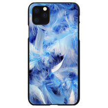 DistinctInk® Hard Plastic Snap-On Case for Apple iPhone - Blue Feathers