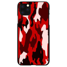 DistinctInk® Hard Plastic Snap-On Case for Apple iPhone - Red Black Camouflage