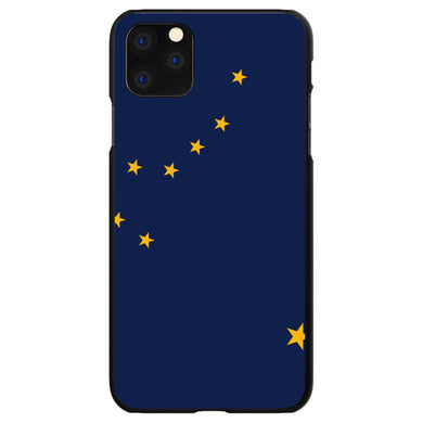 DistinctInk Black Hard Snap-On Case for Apple iPhone 5 / 5S / SE - Alaska State Flag