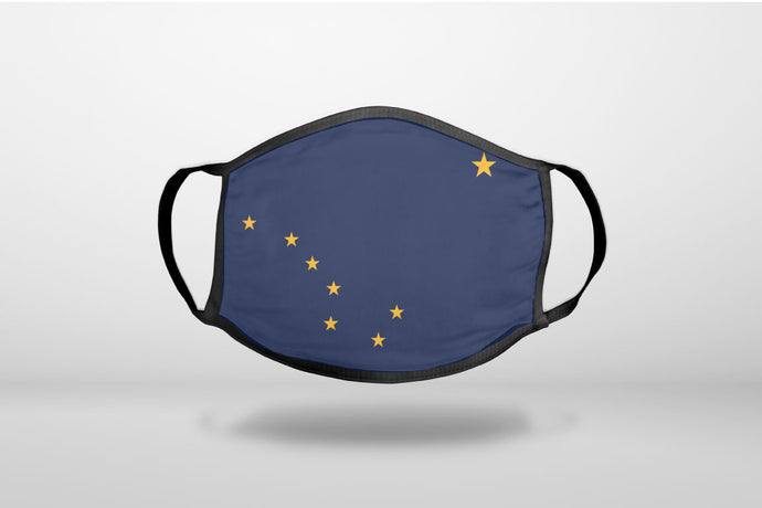 Alaska State Flag - 3-Ply Reusable Soft Face Mask Covering, Unisex, Cotton Inner Layer