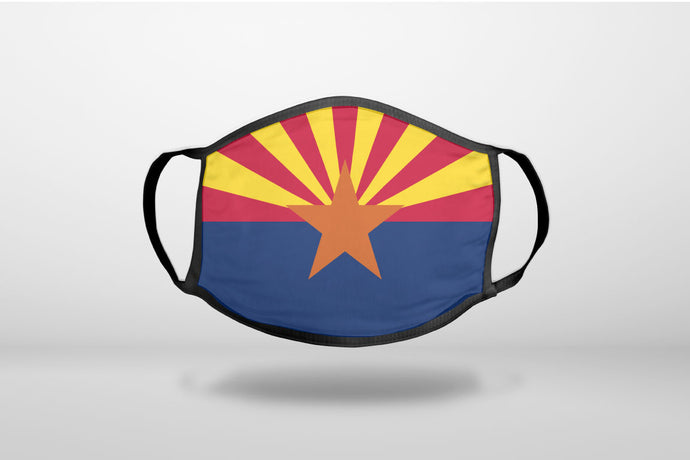 Arizona State Flag - 3-Ply Reusable Soft Face Mask Covering, Unisex, Cotton Inner Layer