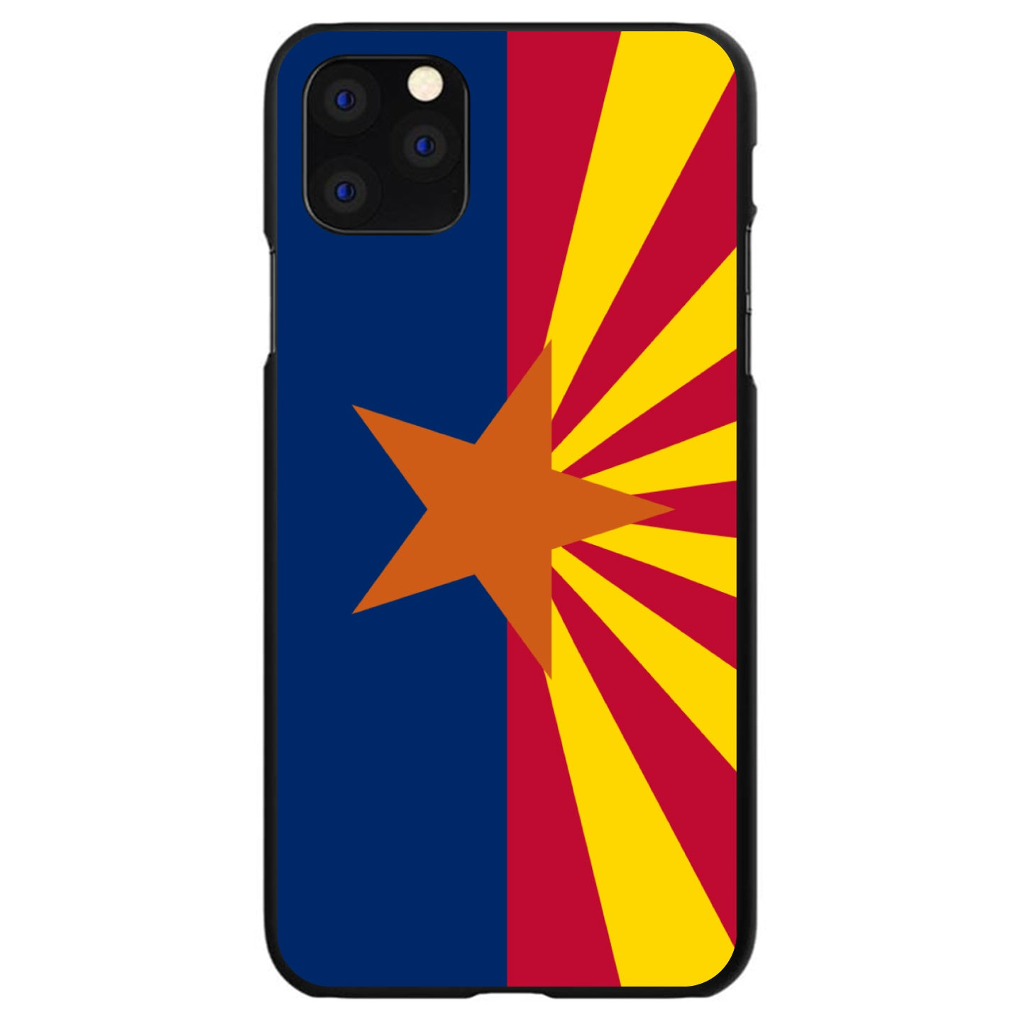 DistinctInk® Hard Plastic Snap-On Case for Apple iPhone - Arizona State Flag