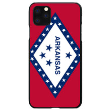 DistinctInk® Hard Plastic Snap-On Case for Apple iPhone - Arkansas State Flag