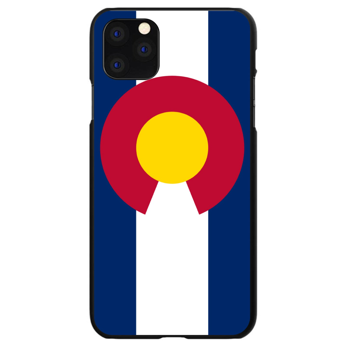DistinctInk® Hard Plastic Snap-On Case for Apple iPhone - Colorado State Flag