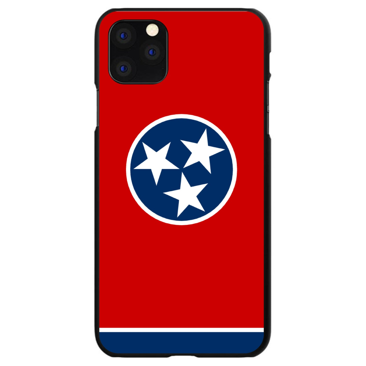 DistinctInk® Hard Plastic Snap-On Case for Apple iPhone - Tennessee State Flag