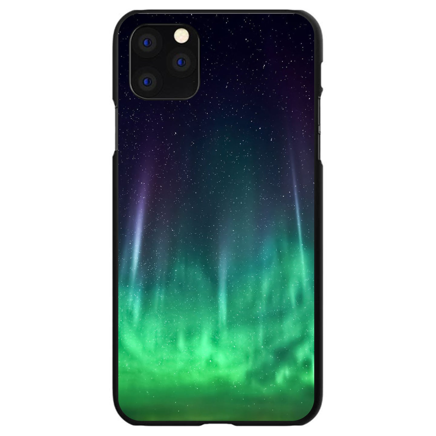 DistinctInk® Hard Plastic Snap-On Case for Apple iPhone - Aurora Borealis Northern Lights