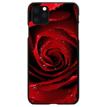 DistinctInk® Hard Plastic Snap-On Case for Apple iPhone - Dew Covered Red Rose