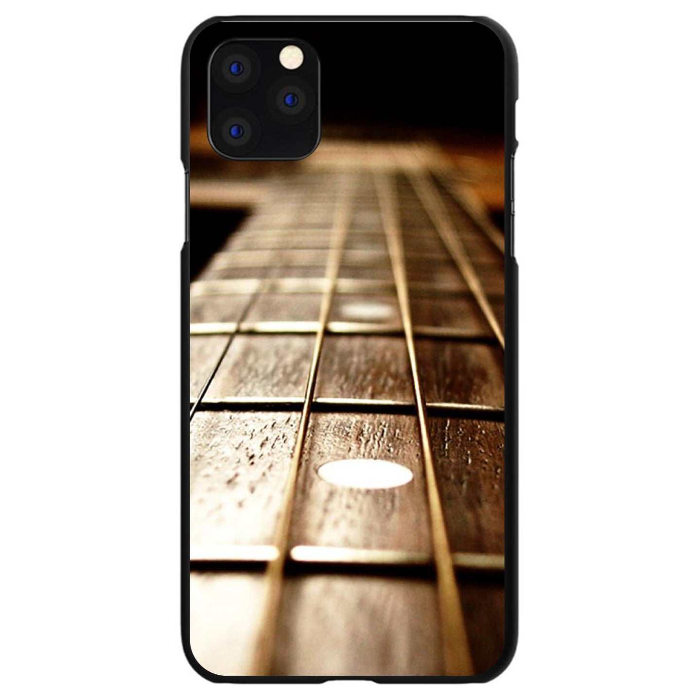 DistinctInk® Hard Plastic Snap-On Case for Apple iPhone - Guitar Strings Neck