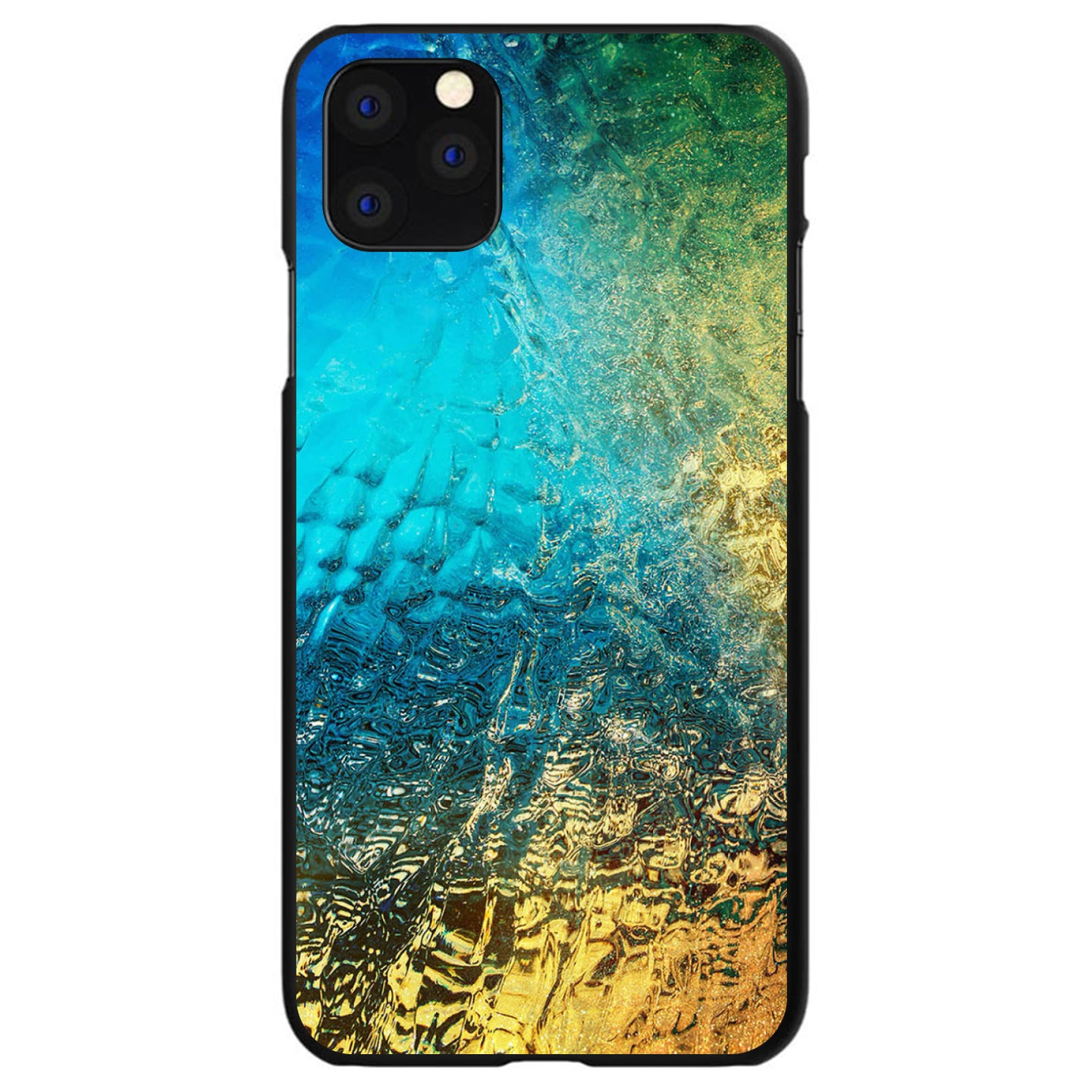 DistinctInk® Hard Plastic Snap-On Case for Apple iPhone - Colorful Rainbow Waterfall