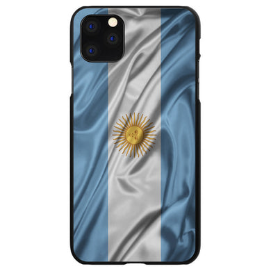 DistinctInk Black Hard Snap-On Case for Apple iPhone 5 / 5S / SE - Argentina Waving Flag