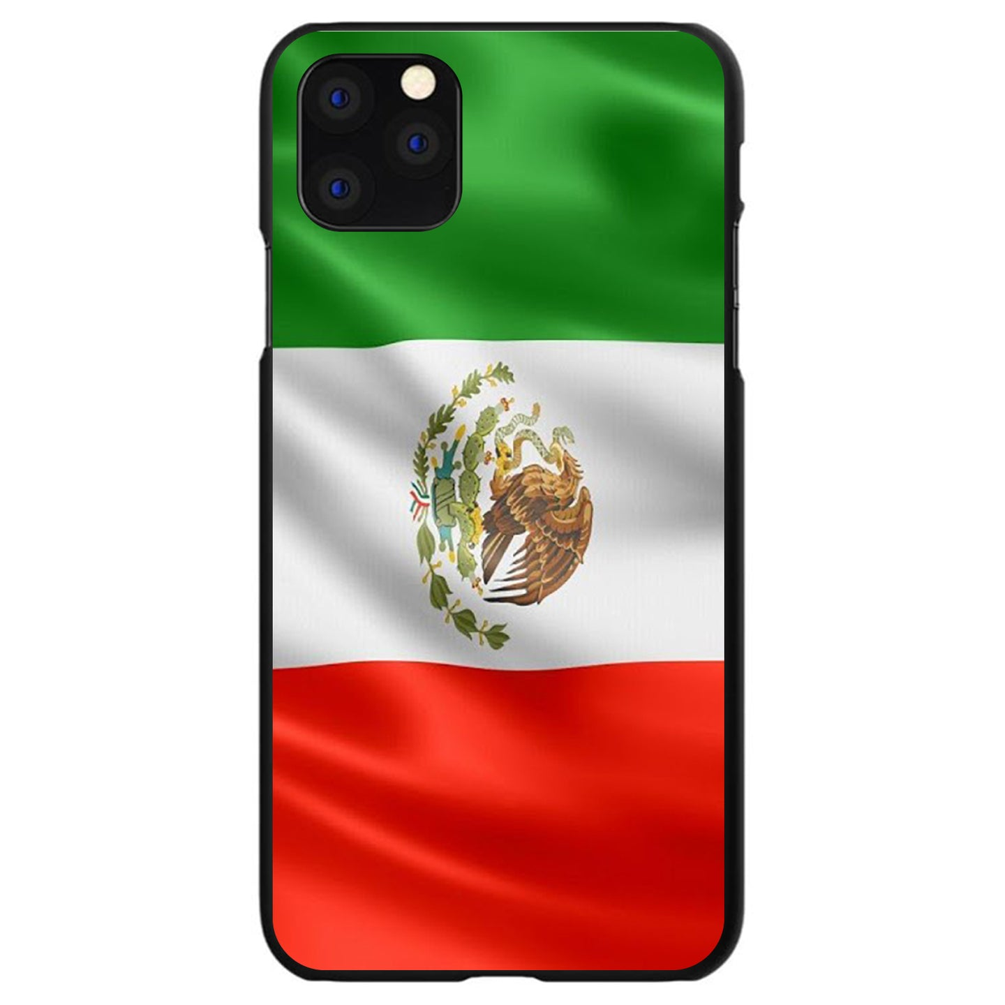 DistinctInk® Hard Plastic Snap-On Case for Apple iPhone - Red White Green Mexican Flag Mexico