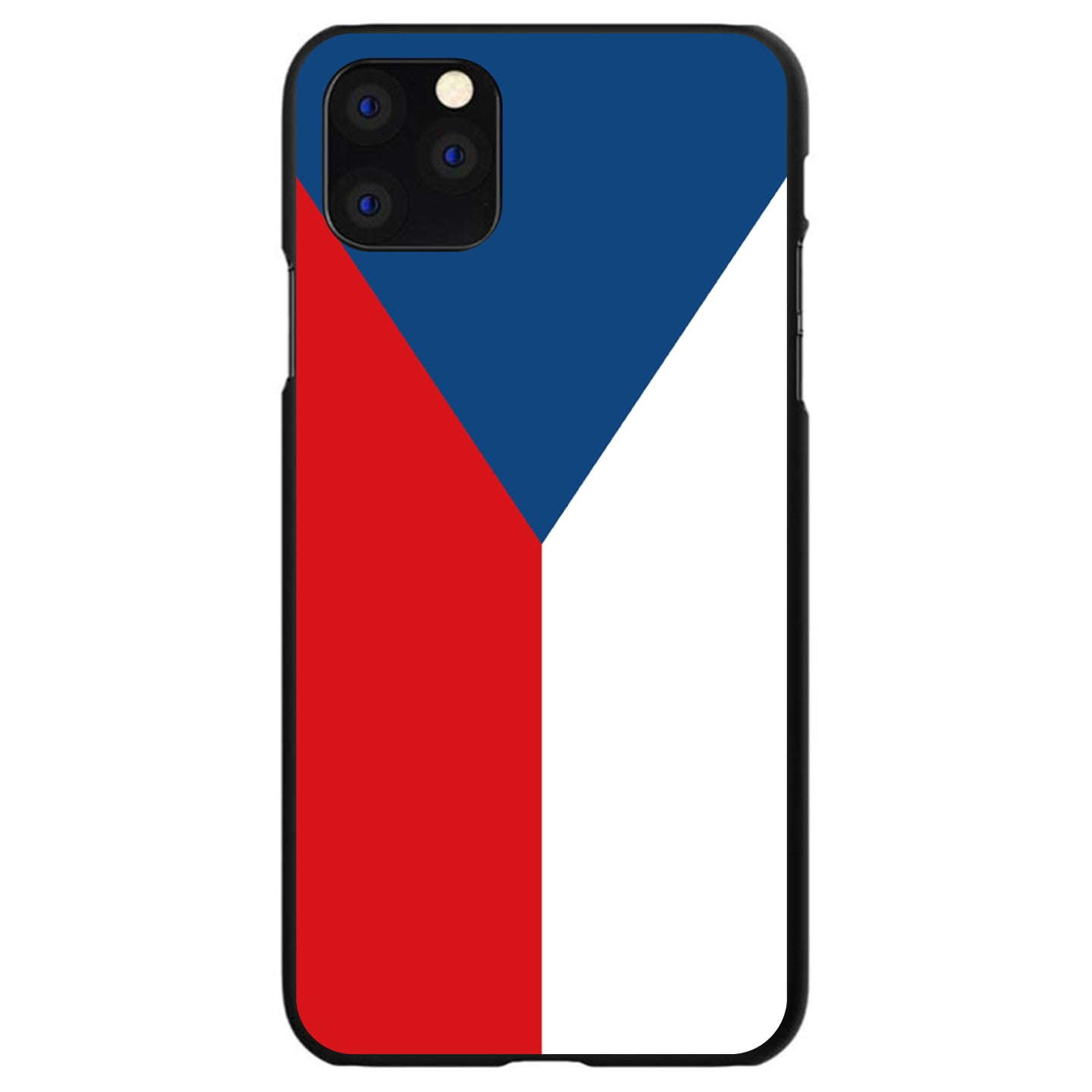 DistinctInk® Hard Plastic Snap-On Case for Apple iPhone - Czech Republic Flag
