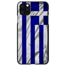 DistinctInk® Hard Plastic Snap-On Case for Apple iPhone - Greece Waving Flag