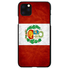 DistinctInk® Hard Plastic Snap-On Case for Apple iPhone - Peru Old Flag